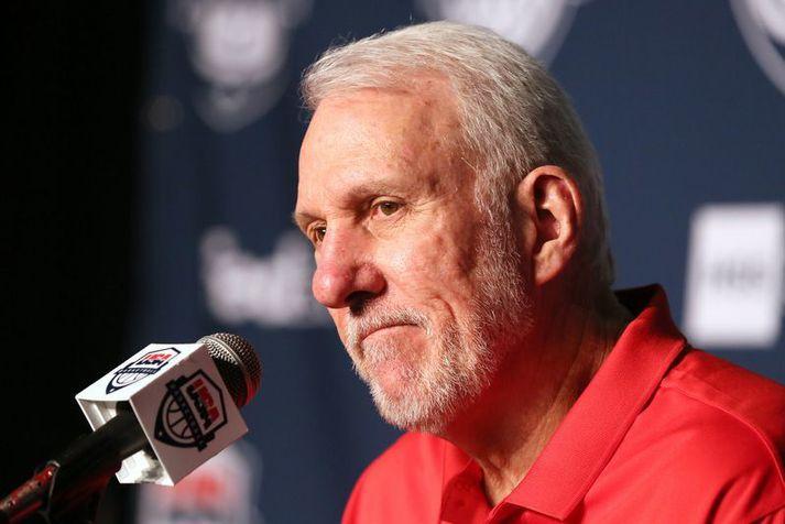 Gregg Popovich hefur þjálfað bandaríska landsliðið undanfarin ár auk þess að stýra liði San Antonio Spurs.