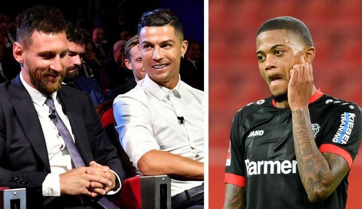 Lionel Messi, Cristiano Ronaldo og svo Leon Bailey sem er faðir Leo Cristiano.