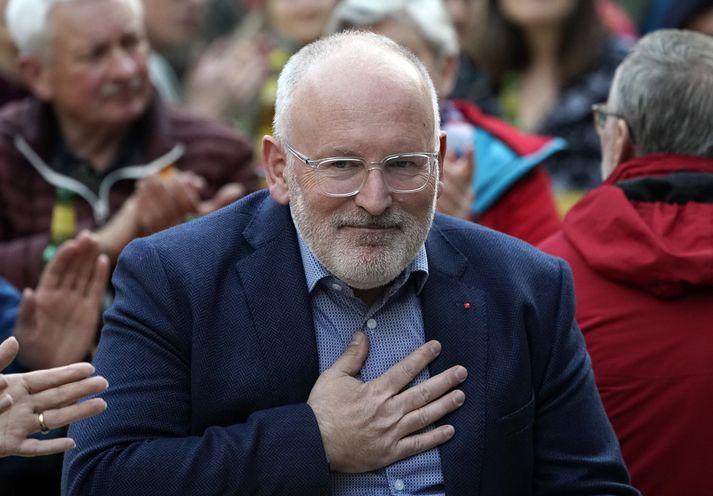 Frans Timmermans hefur gegn embætti varaforseta framkvæmdastjórnar ESB frá 2014. Útlit er fyrir að áform um að hann verði forseti framkvæmdastjórnarinnar nái ekki fram að ganga.