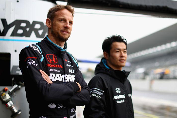 Fyrrum Formúlu 1 heimsmeistarinn Jenson Button var liðsfélagi Yamamoto í Super GT mótaröðinni í fyrra.
