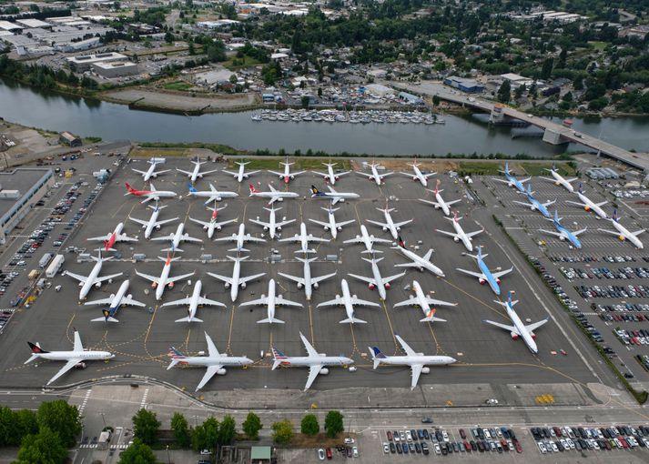 Boeing Max 737 vélar hafa verið kyrrsetar í um 20 mánuði.