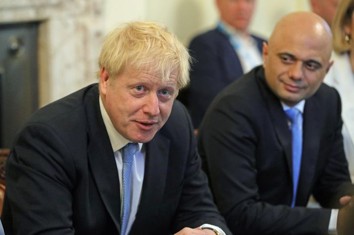 Sajid Javid og Boris Johnson