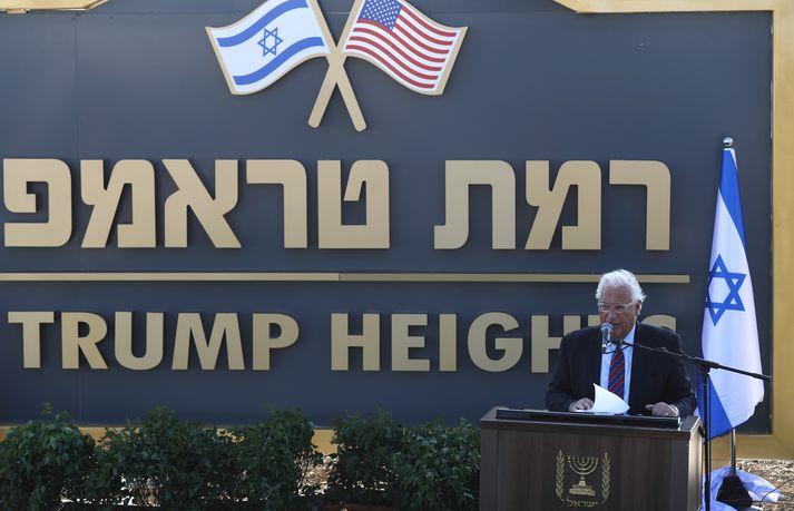 Sendiherra Bandaríkjanna í Ísrael, David Friedman við athöfnina.