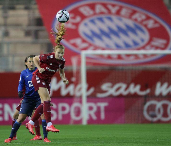 Glódís Perla Viggósdóttir spilaði allan leikinn í hjarta varnar Bayern.