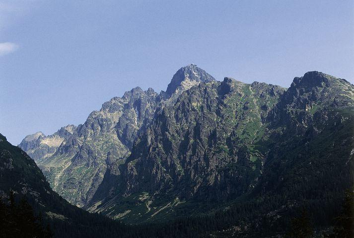 Tatrafjöll eru á landamærum Póllands og Slóvakíu.