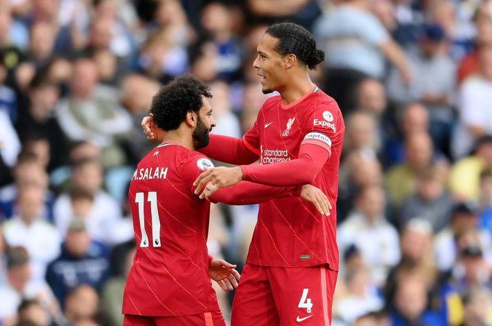 Mohamed Salah og Virgil van Dijk munu skora í kvöld samkvæmt spá Gumma Ben.