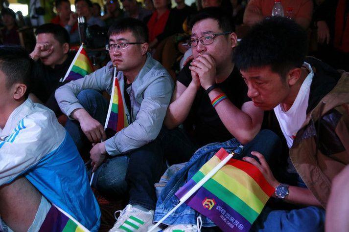 Margir eru uggandi vegna þess hvernig afstaða samfélagsins til LGBT+ fólks er að þróast í Kína.
