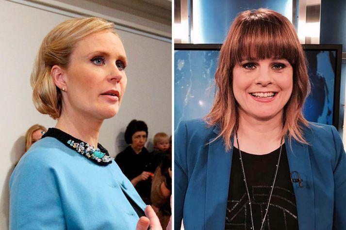 Þóra Arnórsdóttir og Rakel Þorbergsdóttir.