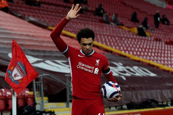 Trent Alexander-Arnold mun að öllum líkindum ekki spila með Liverpool þegar að liðið mætir Porto í Meistaradeild Evrópu í kvöld.