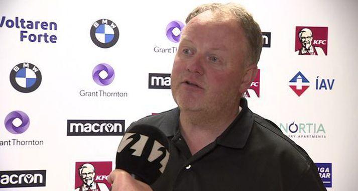 Haraldur Haraldsson ræddi við Guðjón Guðmundsson, Gaupa, um stöðuna varðandi hversu fá sæti í Pepsi Max deild karla gefa þátttökurétt í Evrópukeppnum.