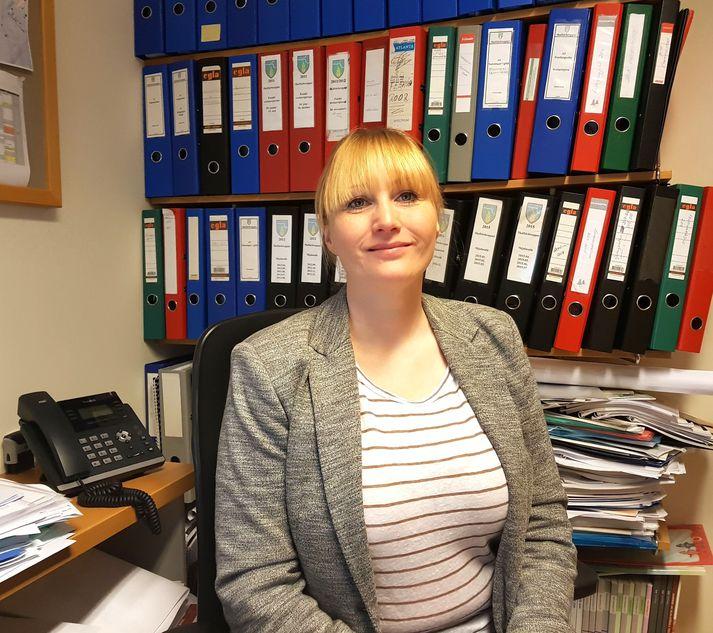 Sandra Brá Jóhannesdóttir, sveitarstjóri Skaftárhrepps, sem segir að lokun verslunarinnar á Kirkjubæjarklaustri sé kjaftshögg fyrir samfélagið.