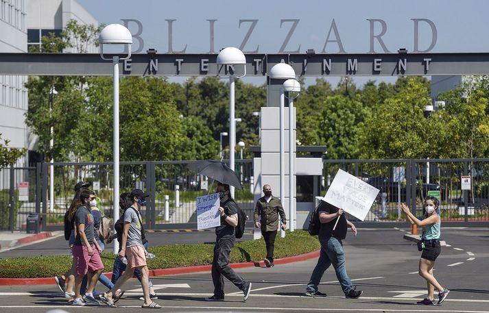 Starfsmenn Blizzard Entertainment mótmæltu yfirmönnum sínum í síðustu viku.