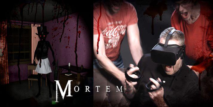 Daníel Ómar var bara fimmtán ára þegar vinna við Mortem hófst.