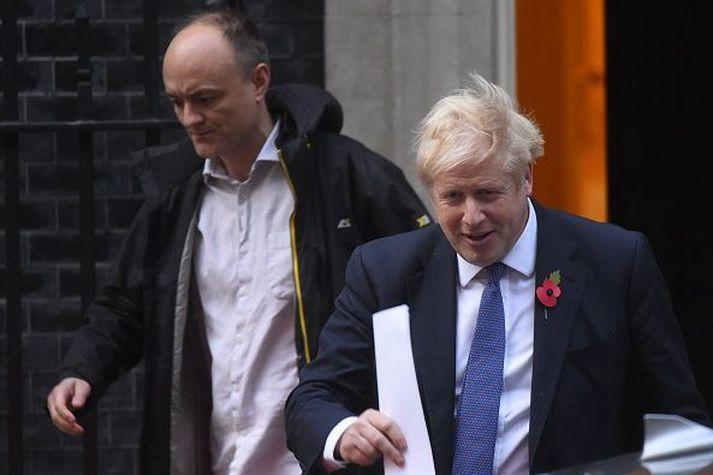 Dominic Cummings hefur unnið náið með Johnson í tíð hans í Downingsstræti, auk þess stýrði hann Leave- kosningabaráttunni í Brexit málum 2016.