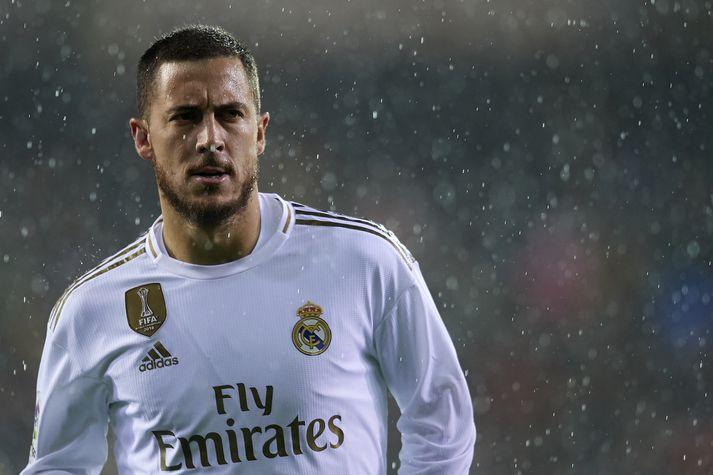 Hazard gekk í raðir Real Madrid í sumar.