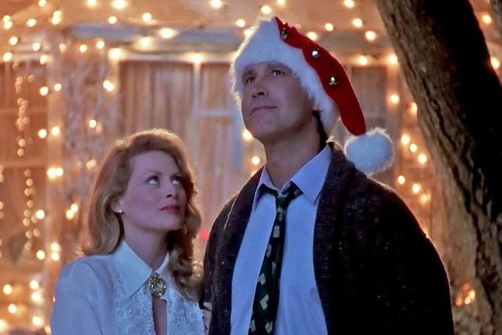 Beverly D'Angelo og Chevy Chase í hlutverkum sínum sem Griswold-hjónin í National Lampoon's Christmas Vacation.