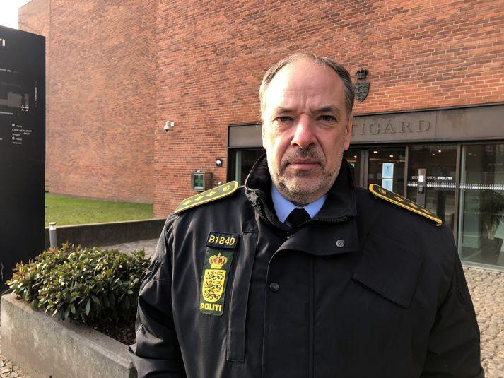 Michael Kjeldgaard, yfirlögregluþjónn hjá lögreglunni á Austur-Jótlandi.