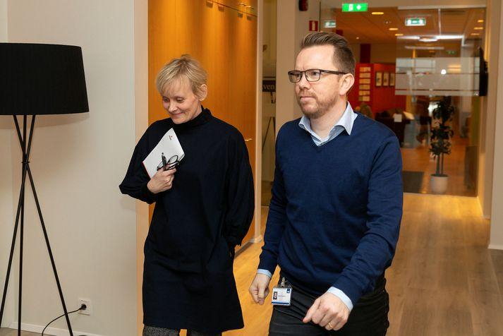 Sólveig Anna Jónsdóttir formaður Eflingar og Ragnar Þór Ingólfsson formaður VR.