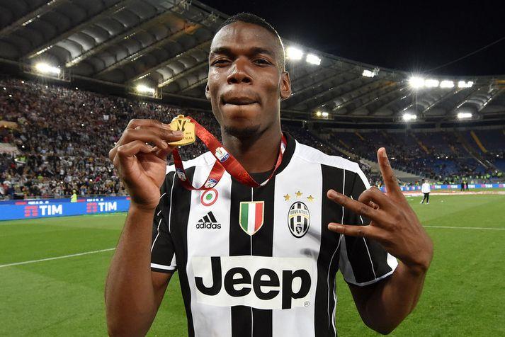 Paul Pogba varð að einum besta miðjumanni heims hjá Juventus.