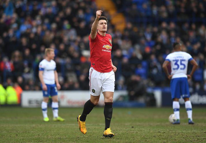 Harry Maguire skoraði og lagði upp er United vann öruggan 6-0 sigur.