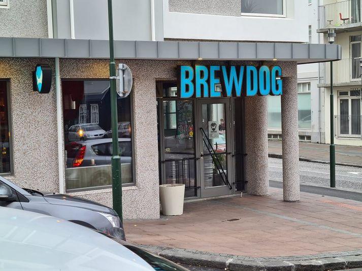 BrewDog er á horni Frakkastígs og Hverfisgötu.