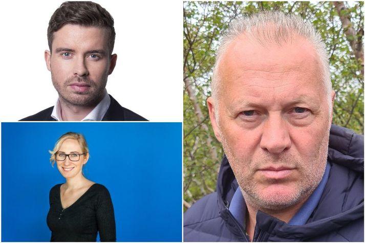 Þorbjörn Þórðarson, Arna Bryndís McClure og Páll Steingrímsson.
