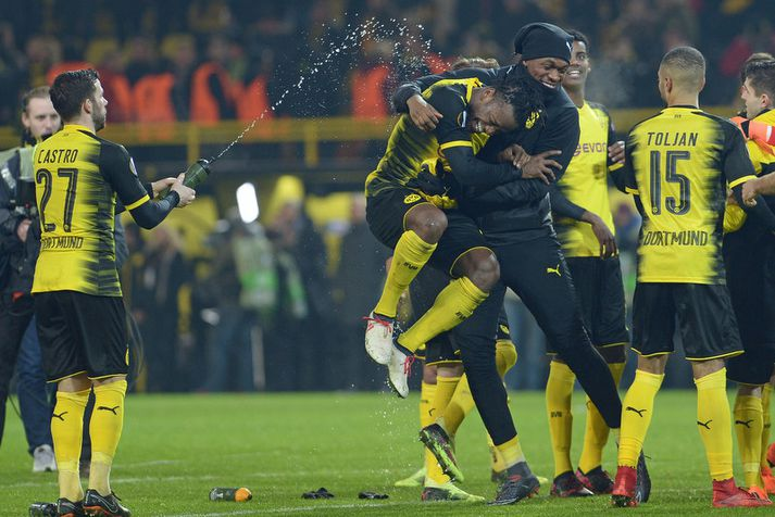 Michy Batshuayi hefur slegið í gegn hjá Dortmund.