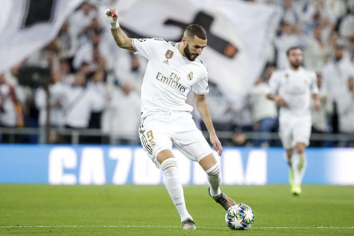 Benzema hefur leikið með Real Madrid síðan 2009.