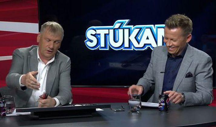 Ólafur Jóhannesson og Atli Viðar Björnsson voru í miklum ham í Pepsi Max Stúkunni í gær.