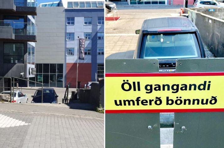 Búið er að opna fyrir gangandi umferð á svæðinu.