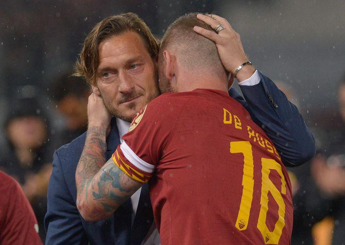 Totti og Danielle De Rossi. Þeir eru báðir farnir frá Roma.