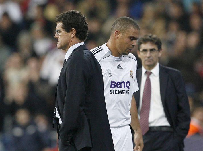 Fabio Capello og Ronaldo áttu ekki skap saman.