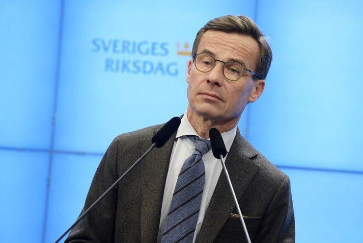 Ulf Kristersson er formaður hæstriflokksins Moderaterna.