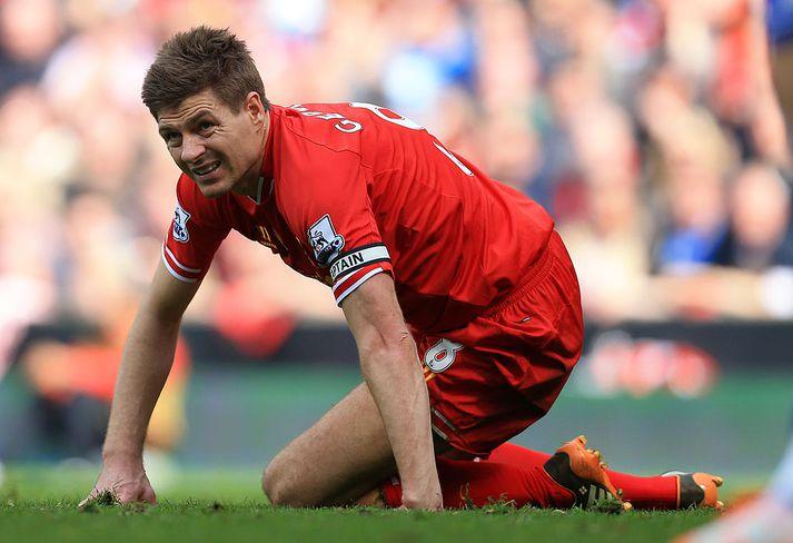 Steven Gerrard var fyrirliði Liverpool