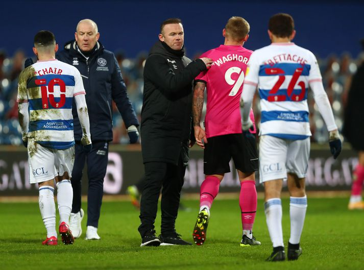 Wayne Rooney og lærisveinar hans unnu mikilvægan 1-0 sigur í dag.