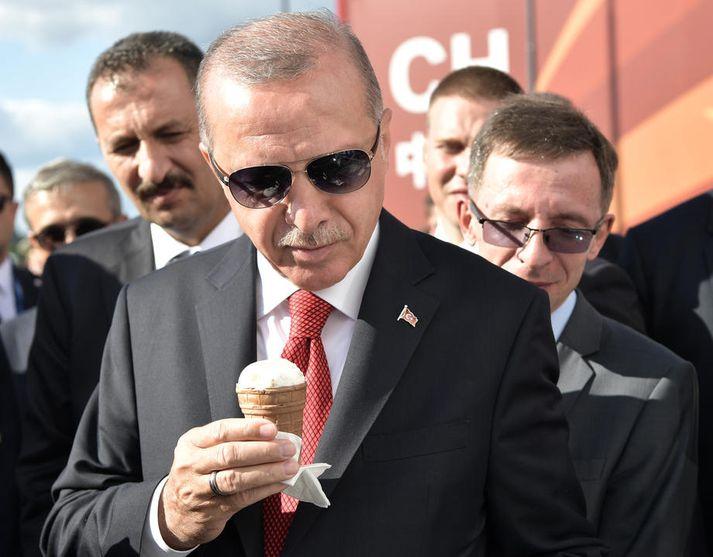 Erdogan er ekki sáttur við að kjarnorkuþjóðir banni Tyrkjum að koma sér upp kjarnavopnum.