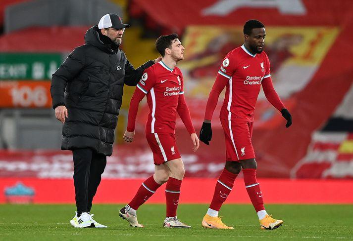 Liverpool tapaði í fyrsta sinn fyrir Everton á Anfield í 22 ár á laugardaginn var.