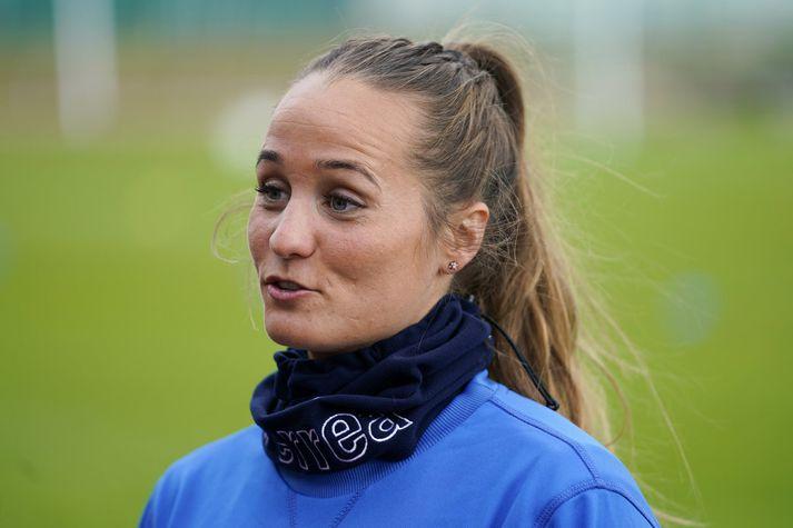 Fanndís Friðriksdóttir, landsliðskona í knattspyrnu, er komin á fast.