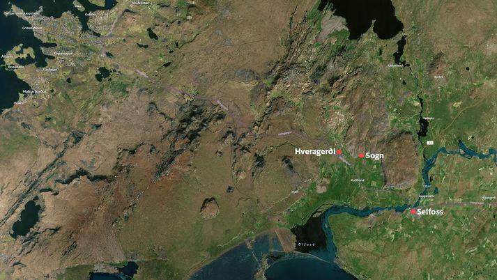 Fangelsið Sogni er staðsett í Ölfusi, skammt frá Hveragerði.