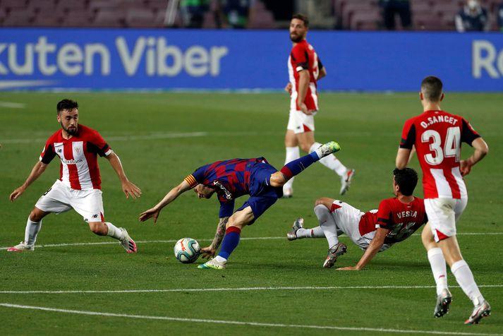Messi á strembið kvöld í vændum gegn Atletico Madrid.