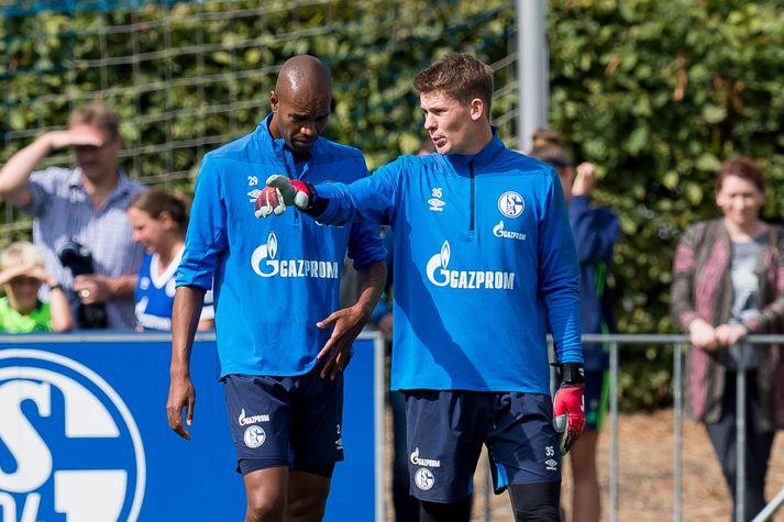 Frá æfingu Schalke í vikunni.