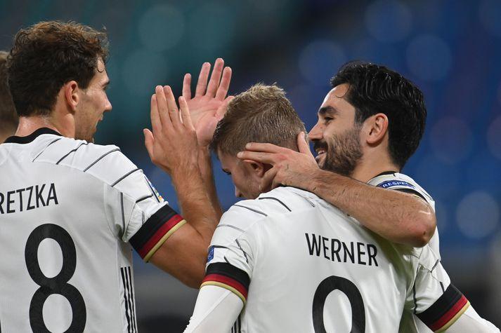 Werner skoraði tvö mörk í kvöld.