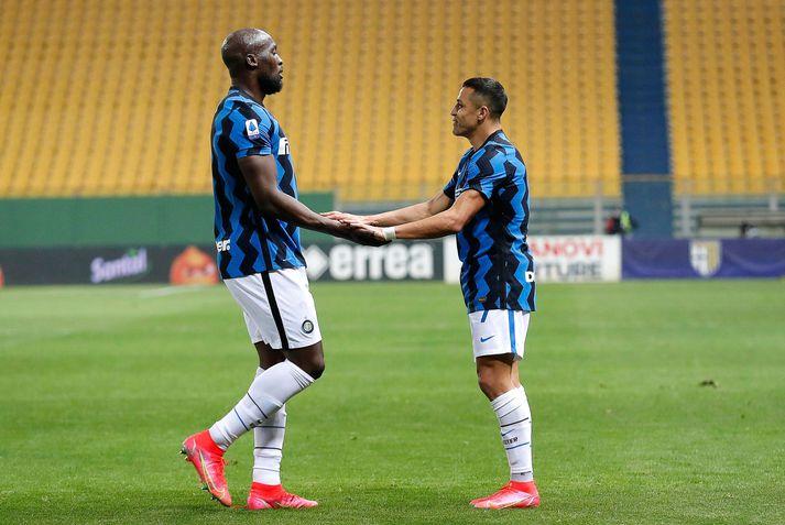 Þessir sáu um mörk Inter í kvöld.