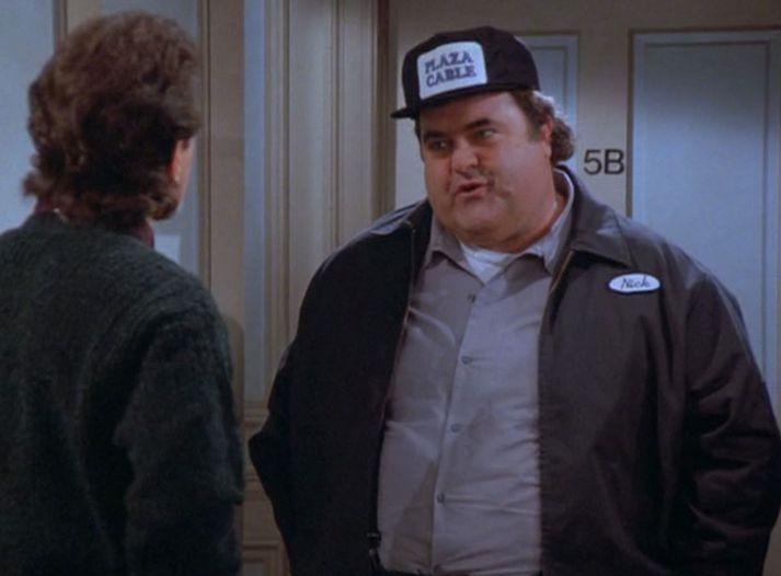 """Walter Olkewicz í hlutverki """"kapalgaursins"""" Nick í Seinfeld."""