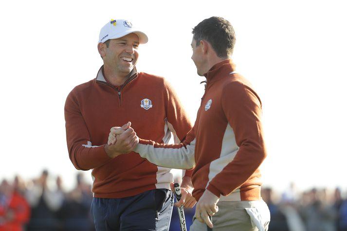 Sergio og Rory ánægðir.