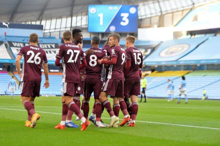 Leicester menn voru óstöðvandi í dag.