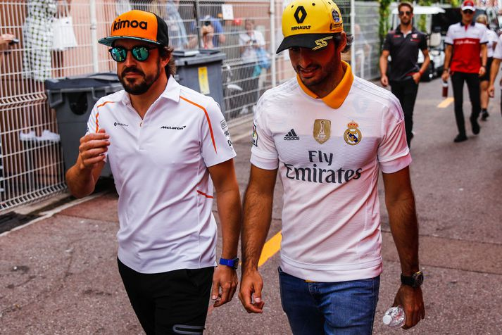 Spánverjarnir Alonso og Sainz