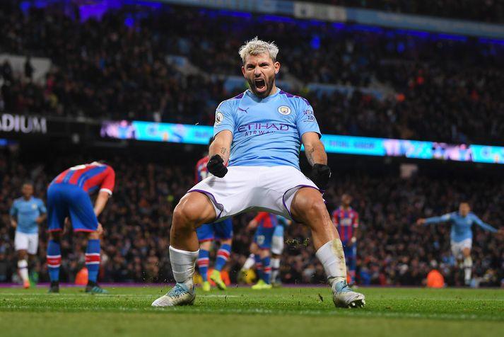 Það reynir á Sergio Aguero og félaga í Manchester City á heimavelli Real Madrid í kvöld.