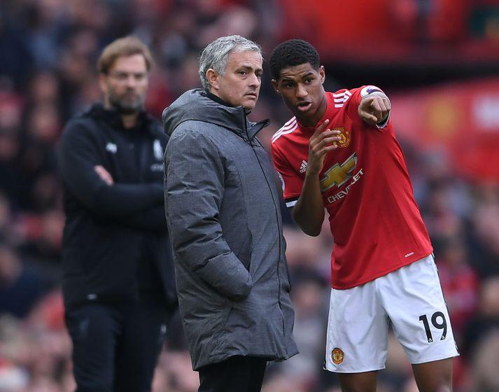 Rashford og Mourinho.