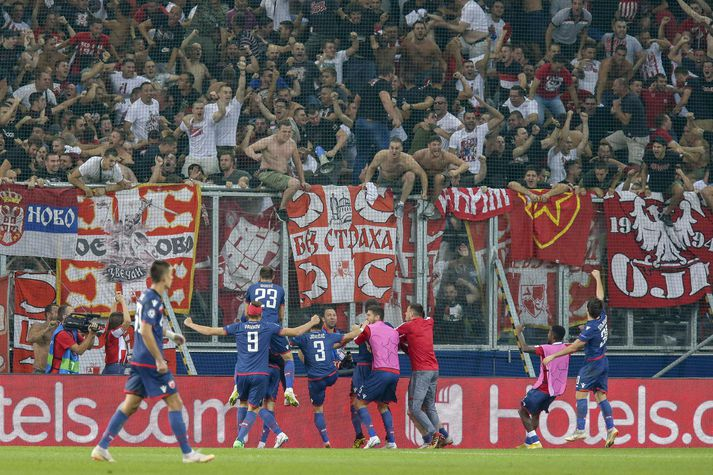 FK Crvena Zvezda fagna í kvöld.